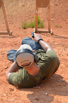 Training to fight from the ground with a Glock pistol